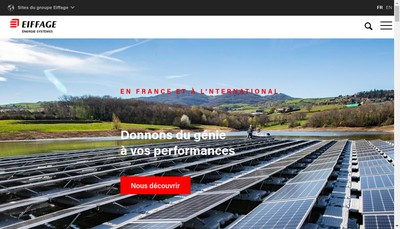 Site internet de Eiffage Energie Systemes - Gestion & Developpement