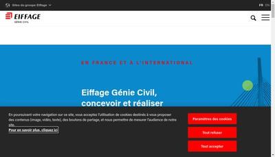 Site internet de Eiffage Infrastructures Gestion et Developpement