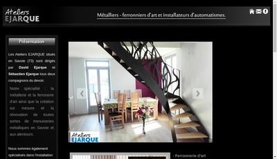 Site internet de Ateliers Ejarque