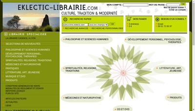 Site internet de Eklectic Librairie Cadence