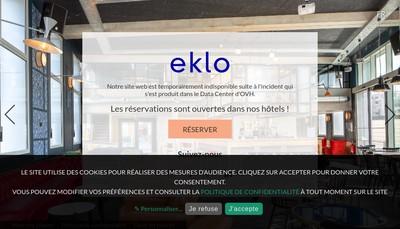 Site internet de Eklo Hotels
