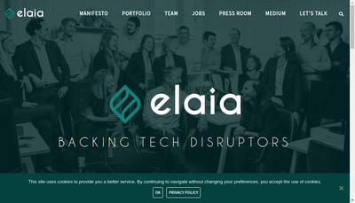 Site internet de Elaia Partners
