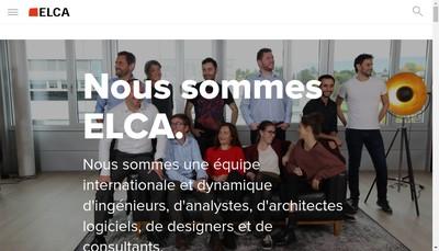 Site internet de Elca