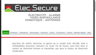 Site internet de Elec Secure
