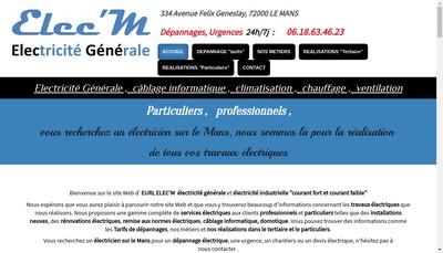 Site internet de EURL Elec'M