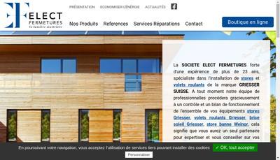 Site internet de Elec Fermetures