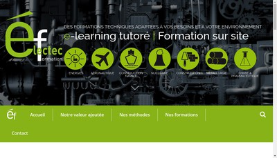 Site internet de Elec Tec Formation