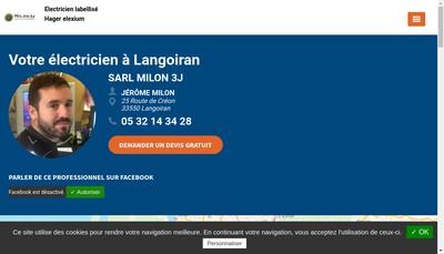 Site internet de Milon 3 J