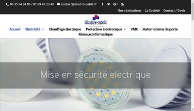 Site internet de Electro-Cable