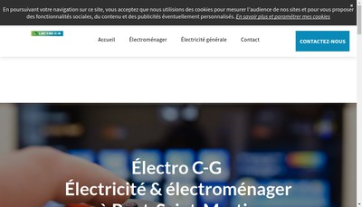 Site internet de Electro Cm
