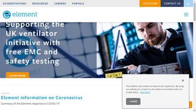 Site internet de Element Materials Technology Toulouse
