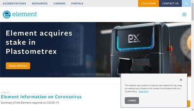 Site internet de Element Materials Technology France SAS