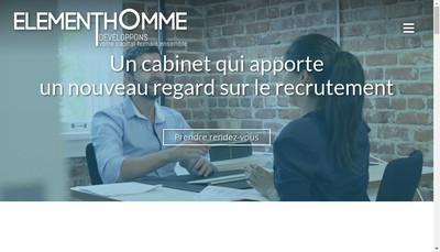 Site internet de Elementhomme
