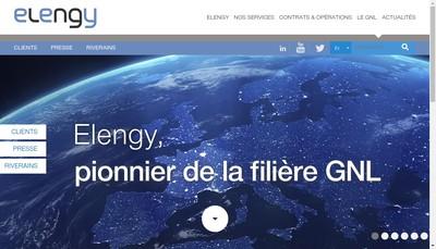 Site internet de Elengy