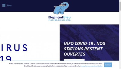 Site internet de Elephant Bleu