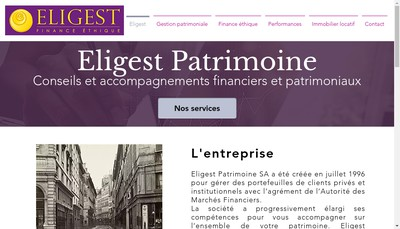 Site internet de Eligest