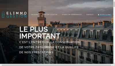 Site internet de Elimmo Gestion