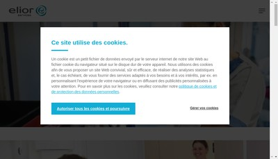 Site internet de Elior Services Fm