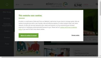 Site internet de Elior Entreprises