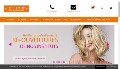 Site internet de Elite Hair International