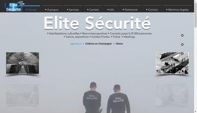Site internet de Elite Securite Reims