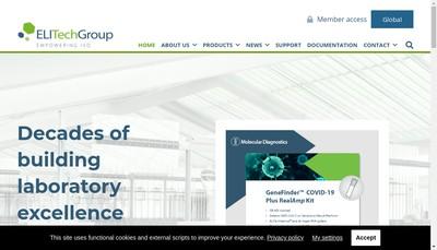 Site internet de Elitech Clinical Systems SAS