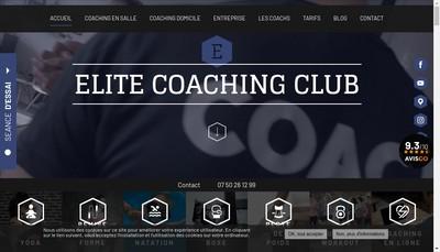 Site internet de Elite Coaching Club