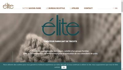 Site internet de Elite Tricot Elite Drole Maille