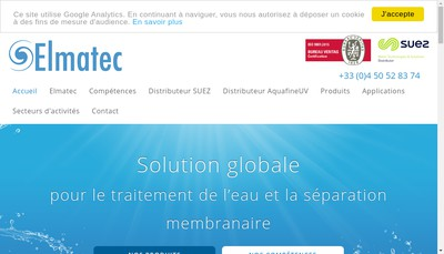 Site internet de Elmatec