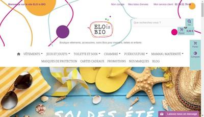 Site internet de Elo Is Bio
