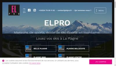 Site internet de Elpro Sports