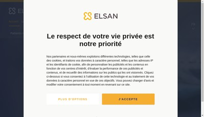 Site internet de SA Clinique de Flandre