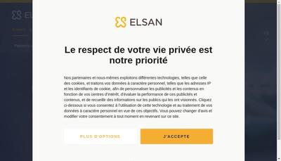 Site internet de Elsan Holding