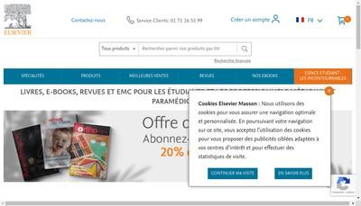 Site internet de Elsevier Masson SAS