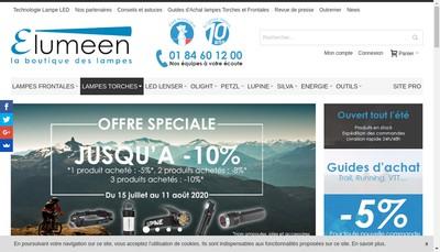 Site internet de Led Lenser Pro - Elumeen