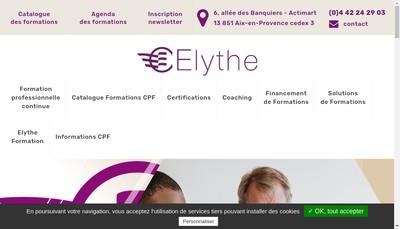Site internet de Elythe Centre Superieur de Formation