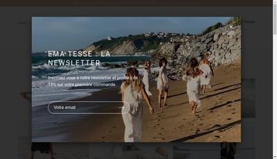 Site internet de Ema Tesse