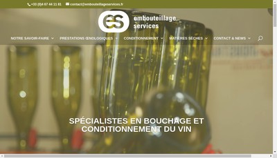 Site internet de Embouteillages Services SAS