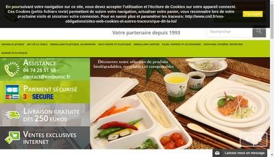 Site internet de Embunic
