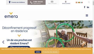 Site internet de Emera Residence Seniors Lavalette