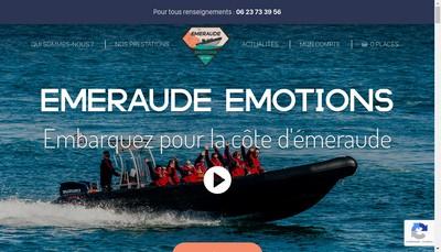 Site internet de Emeraude Emotions