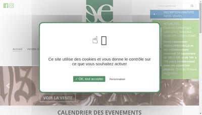 Site internet de Emeraude Encheres Saint-Malo