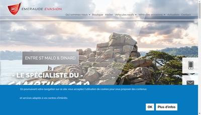 Site internet de Emeraude Evasion