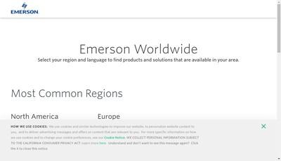 Site internet de Emerson Process Management