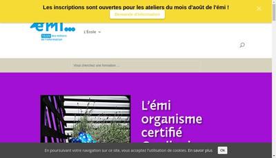 Site internet de L'Ecole Metiers de l'Information-Cfd