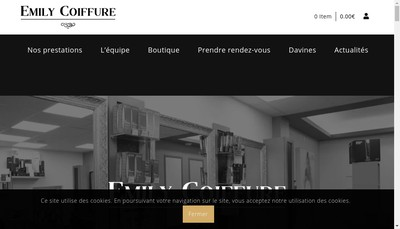 Site internet de Emily Coiffure