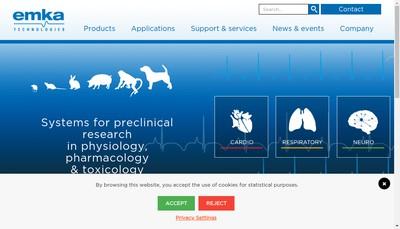 Site internet de Emka Technologies