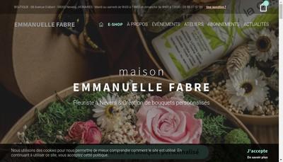 Site internet de Fleurs Fabre
