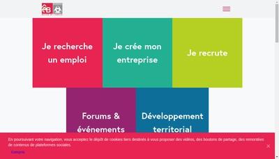 Site internet de Maison de l'Emploi de l'Insertion Economique et de l'Entreprise de Bordeaux