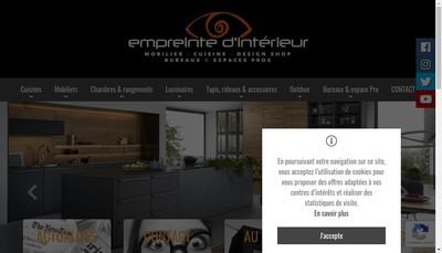 Site internet de Empreinte d'Interieur
